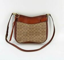 ❤️ Coach Coated Canvas Chaise 38579 Signature Tan/Rust/Gold Crossbody #Z7