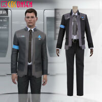Detroit Become Human Connor RK800 Agent Suit Uniform Cosplay Costume lot