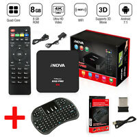 Pro 4K 1080P 64-bit Android 7.1 / 1GB+8GB HD 4K 3D Smart TV Box + Keyboard US