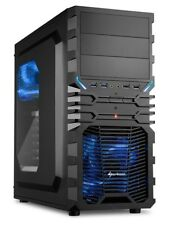 Sharkoon PC Computer Gehäuse VG4-W ATX Midi Tower schwarz/blau- ohne Netzteil
