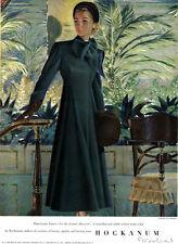 Edwin Georgi Hockanum Woolens TRIGERE COSTUME Directoire Green 1948 Print Ad