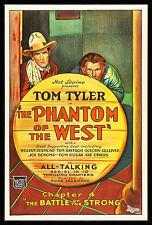 PHANTOM OF THE WEST CineMasterpieces TOM TYLER MOVIE POSTER WESTERN COWBOY 1931