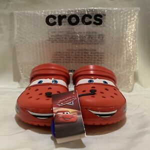 Crocs x Disney's Cars Lightning McQueen Adults Clogs Size Men's 10 Women's 12