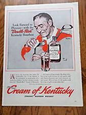 1940 Cream Kentucky Whiskey Ad Norman Rockwell Golfer