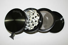 "2.5"" Hard top 4Piece Authentic Sharpstone® Aluminum Herb Tobacco Grinder Crusher"