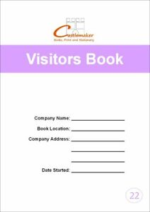 VISITORS BOOK (A4/32 Pages) V022 (Signing In Reception Security Log)