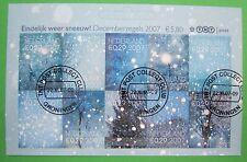 Nederland NVPH V 2530 t/m 2539 decemberzegels half velletje boven gestempeld