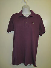 Genuine Vintage Lacoste Purple Short Sleeved Polo Shirt - UK 14 Euro 42