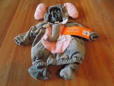 Infant Size 0-6 Months Hyde & Eek Elephant Halloween Costume Hooded Vest Booties