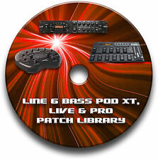 LINE 6 BASS POD XT, LIVE & PRO PRE-PROGRAMMED PATCHES CD OVER 470 - BASS EFFECTS