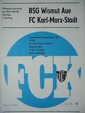 Programm 1987/88 FC Karl Marx Stadt - Wismut Aue