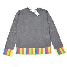 NWT $350 Comme Des Garcons SHIRT Men's Rainbow Trim Collarless Sweater AUTHENTIC