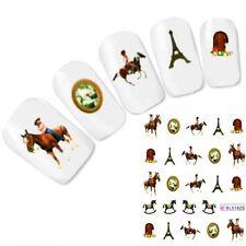 TATTOO unghie Sticker Adesivo Cavallo horse cavallo a dondolo NAIL ART UNGHIE