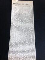 h7-1 Ephemera 1892 Times Artículo LA FAMINE en Rusia