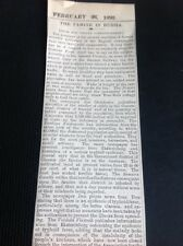 H7-1 Ephemera 1892 Times Article The Famine In Russia