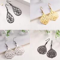 Silver/Gold/Black Earring Stainless Steel Ear Dangle Pendant for Women