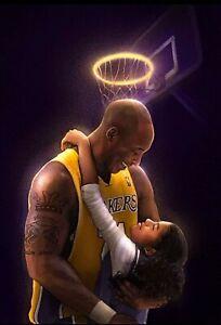 R.I.P. Kobe Bryant Daughter Gigi Art Poster - Rest In Peace - NEW - 11x17 17x25