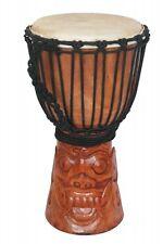 Bali Trommel Djembe Handtrommel Schnitzerei Barongmaske 40cm