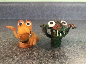 Lot Of 2 Vintage Rubber Ugly Monster Uglies Jiggler Finger Puppets