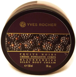 Yves Rocher Fruits Noir Blackberries Silky Body Cream Women 5 fl oz 150 ml 2017