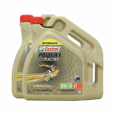Castrol Power 1 Racing 4T 10w-40 Synthetic 4T 10W40 oil - 8 Litres: 2 x 4L