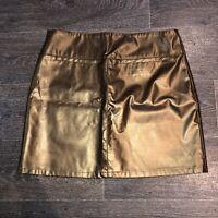 EastCoast Skirt Bronze Metallic Insta Baddie Size 12 Boujee Style