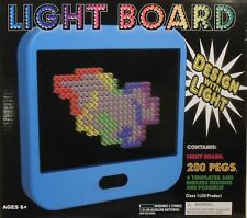 Light Board LED Flat Screen Pegs Templates Design Kids Fun Toy