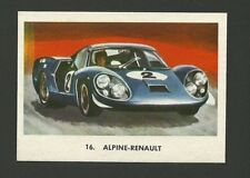 Alpine Renault Racecar Vintage Car Collector Trading Card from Spain