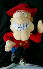 """DUDLEY DO-RIGHT CANADIAN MOUNTIE 8"""" PLUSH BEAN BAG From Rockie & Bullwinkle NWT"""