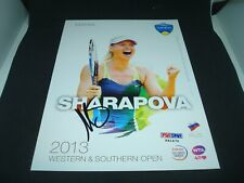 Maria Sharapova Signed 2013 W&S Open Official Player Card PSA/DNA COA Auto. 1A