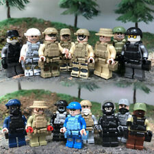 US SELLER*** 16pcs CUSTOM SWAT Military Army Soldier Minifigure Building Block