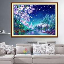 Flower Moon Night 5D Diamond Embroidery Painting Cross Stitch Home Wall Decor A