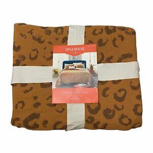 Opalhouse Leopard Spot Woven Matelasse Coverlet Blanket FULL/QUEEN Cotton NEW
