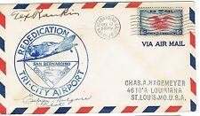 1939 EVELYN 'PINKY' KILGORE AND TEX RANKIN SIGNED AIRPORT DEDICATION COVER