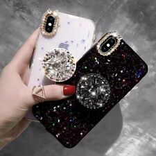 Luxury Diamond Bling Sparkle Phone Case with Stand Holder Cover for Apple iPhone