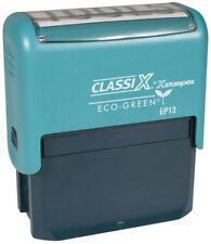 Classix P13  Xstamper ECO GREEN Custom Self-Inking 4 line Business address Stamp