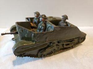 BRITAINS Bren Gun Carrier, British Soldiers, WWII England