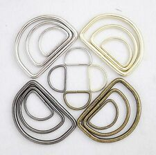 Metal D-Ring Welded ,for straps,purses,bags,Choose quantity Size & color (usa)