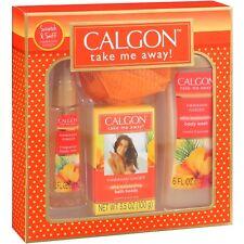 Calgon Hawaiian Ginger 4 PC Gift Set Body Wash Bath Beads Mist & Pouf CRUSHEDBOX