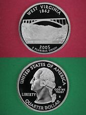 Silver 2005-S West Virginia Proof Quarter Deep Cameo Flat Rate Shipping
