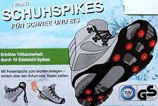 Schuhspikes Eiskrallen Spikes Schuhkrallen Wanderschuhe 36-45 Schneeschuhe NEU