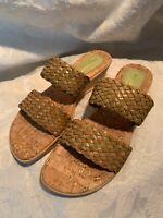 Fiorenzato Womens Sz 7.5-8 Euro 38 Weave Strap Sandals