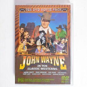 John Wayne in 10 x Classic Westerns Movies DVD Region 4 AUS Free Postage