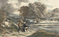 1890 Lithograph - The Illustrated London News, Angling and Fishing Scenes
