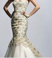 Sherri Hill Mermaid Cut Sequins Formal Dress Prom Dress Night Gown
