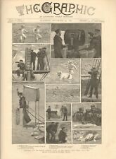 1887 ANTIQUE PRINT- SEARCHING FOR MISSING GUNBOAT ON PARACEL CORAL REEFS, CHINA