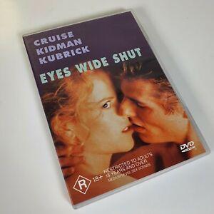 EYES WIDE SHUT DVD :RARE AU R4 Stanley Kubrick 1999 VGC Nicole Kidman Tom Cruise