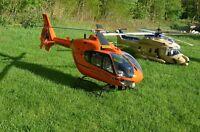 Eurcopter EC-135 Christoph 12 Helicóptero Del Rescate RTF + Vario Mecánica