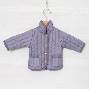 Benetton Baby Girl's 1-3 Month Lilac Stud Front Padded Jacket