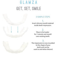 Smile Whitening Teeth Snap Cap On Instant Comfortable Flex Perfect Veneers White